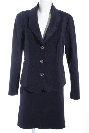 Crisca Kostüm dunkelblau Elegant
