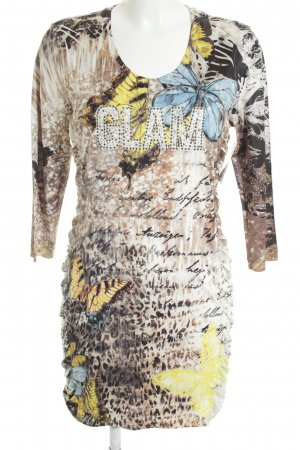 Crisca Minikleid Animalmuster Glitzer-Optik