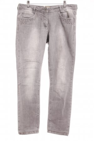 Crisca Skinny Jeans light grey casual look