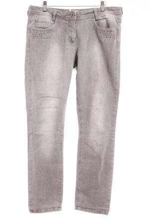 Crisca Skinny Jeans hellgrau Casual-Look