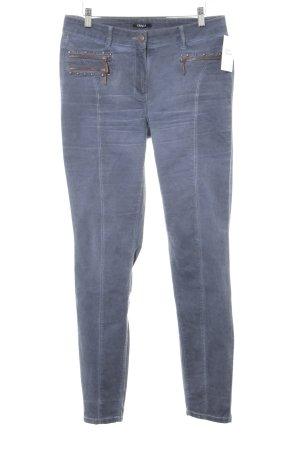 Crisca Slim Jeans kornblumenblau Casual-Look