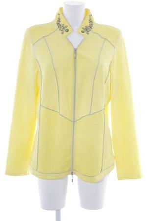 Crisca Übergangsjacke gelb extravaganter Stil