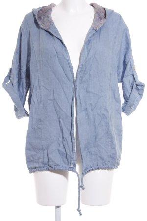 Crist'l Veste chemisier bleu azur style décontracté