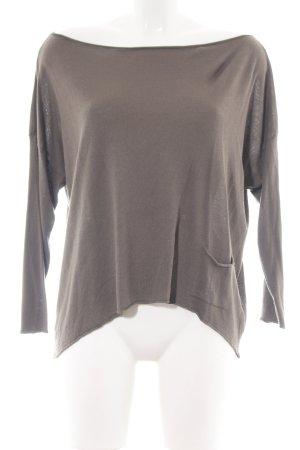 Cristina Gavioli Oversized Sweater brown casual look
