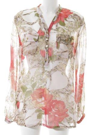 Cristina Schlupf-Bluse Blumenmuster Street-Fashion-Look