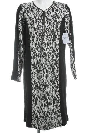Crizpy A-Linien Kleid schwarz-weiß abstraktes Muster schlichter Stil