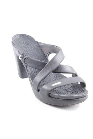 Crocs Mule à talon noir style décontracté