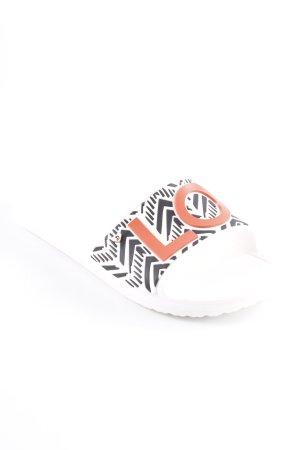 Crocs Flip Flop Sandalen Schriftzug gedruckt Casual-Look