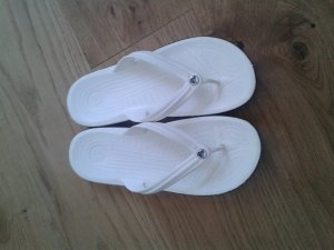 Crocs flip flop weiß