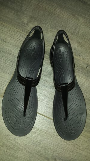 Crocs T-Strap Sandals black