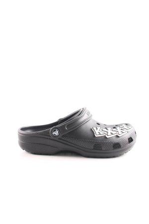 Crocs Comfort Sandals black printed lettering casual look