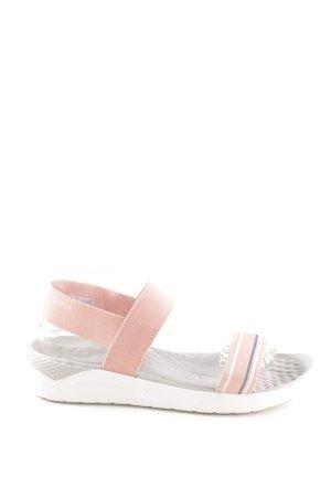 Crocs Comfort Sandals light grey-apricot street-fashion look