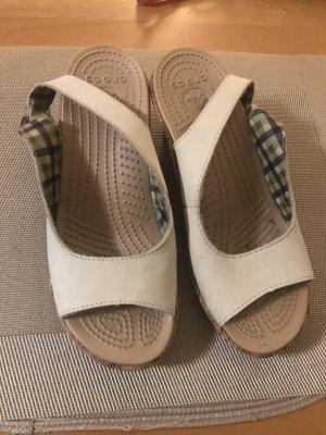 Crocs Platform High-Heeled Sandal white