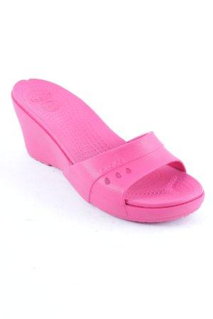Crocs Wedges Sandaletten pink Casual-Look