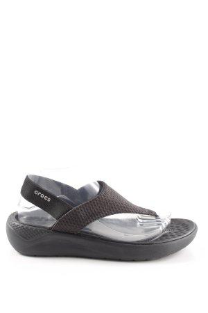 Crocs Teenslippers zwart Beach-look