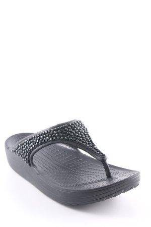 Crocs Zehentrenner-Sandalen schwarz Beach-Look