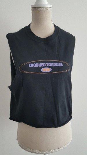 T-shirt court noir-violet