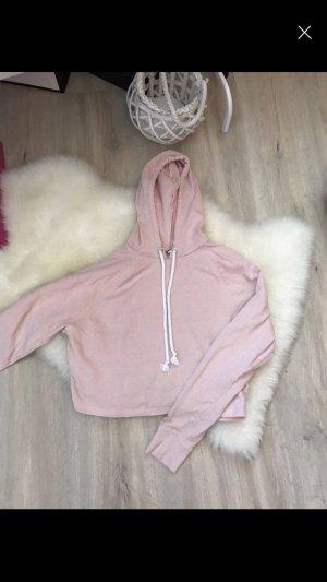 Zara Blusa con capucha rosa-rosa claro