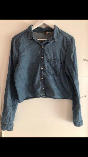 H&M Blouse en jean bleu