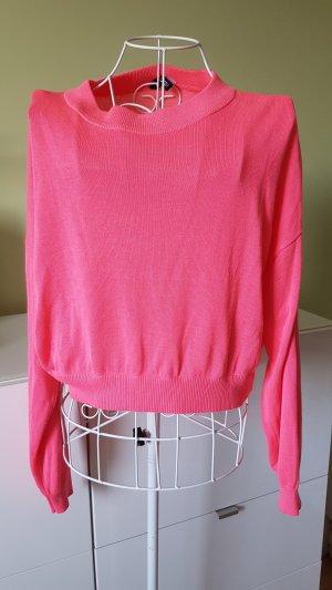 H&M Cropped Shirt neon pink