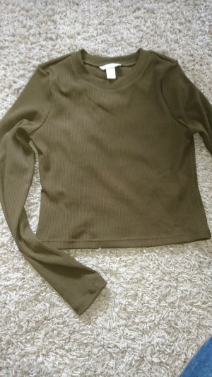 H&M Divided Cropped Shirt olive green