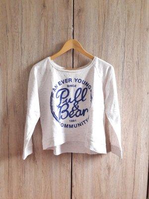 Pull & Bear Jersey de cuello redondo crema-azul