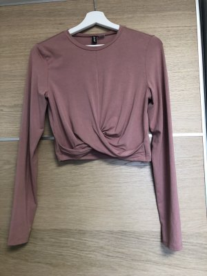 H&M Camicia cropped color oro rosa