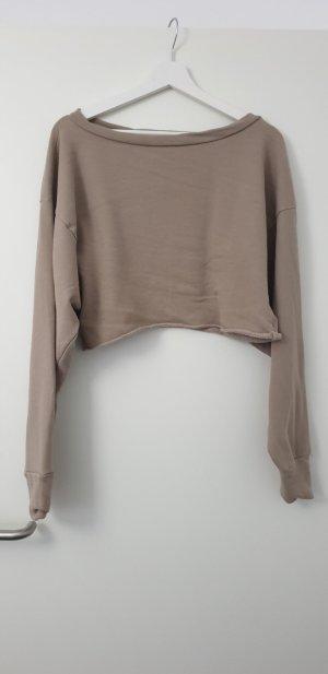 Camicia cropped beige
