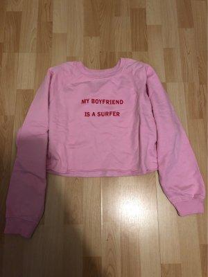 Pull & Bear Cropped Shirt pink-pink