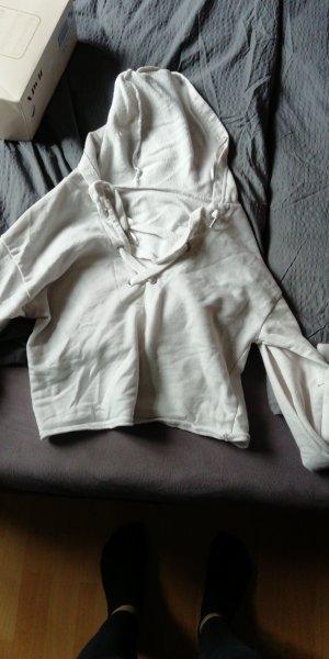 Amisu Jersey gris claro-blanco puro