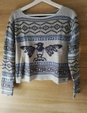 Arizona Sweater grijs-staalblauw
