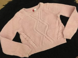 H&M Divided Cable Sweater pink-light pink
