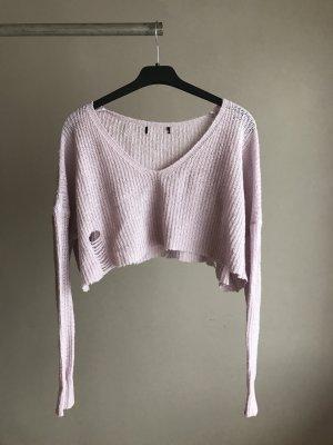 Crop Pullover In blass lila