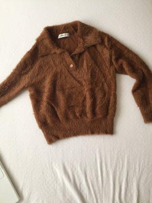 Crop pullover kuschelig flauschig
