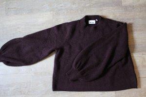Crop-Pullover mit Ballonärmel