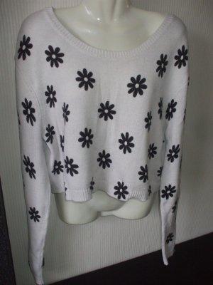 Crop Pullover mit Blümchen
