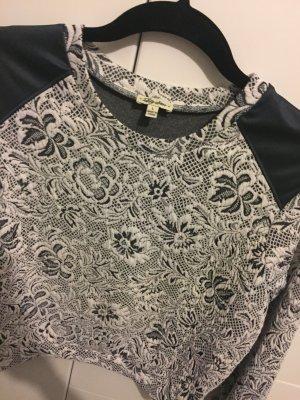 Crop Pullover mit Blumenmuster