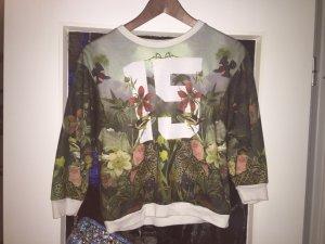 Crop Pullover mit wunderschönem Print, NEU! S, von ZARA