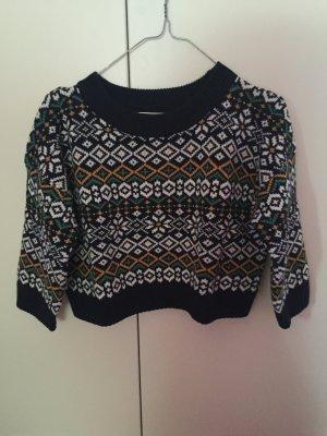 Crop Pullover Norweger Style
