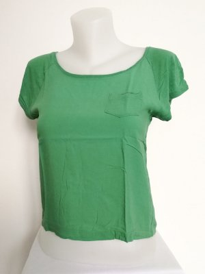 H&M Cropped Shirt lime-green-green