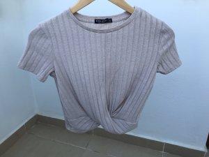 Bershka Cropped shirt licht beige