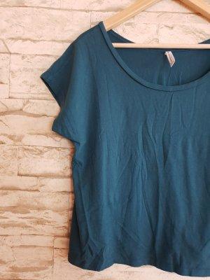 Fishbone T-shirt court bleu pétrole-bleu cadet