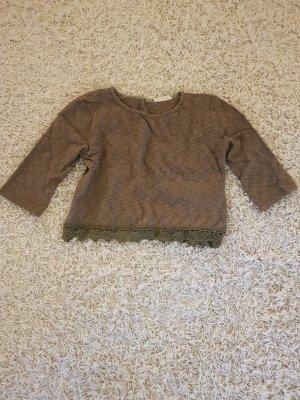 24Colours T-shirt court kaki coton