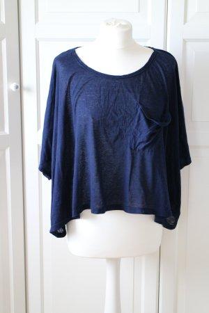 Crop Shirt in dunkelblau