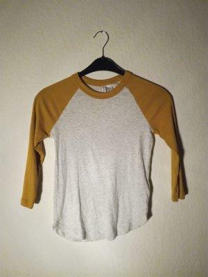 Crop Shirt mit Gelben Ärmeln