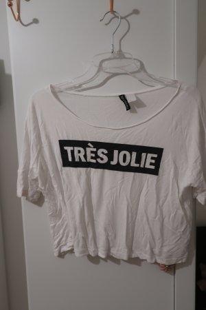 Crop Shirt mit Schriftdruck