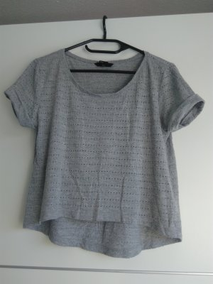 H&M Cropped shirt lichtgrijs