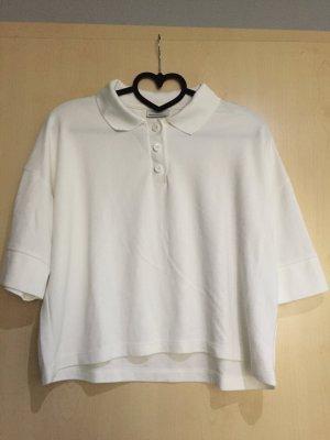 Crop T-Shirt mit Knöpfen