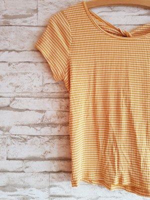 Crop T-Shirt Rückenausschnitt Basic Sommer