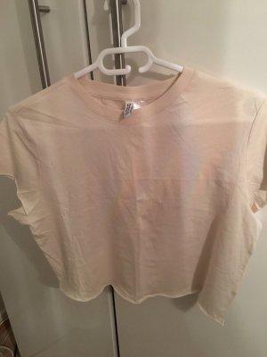 H&M Divided Camicia cropped crema Cotone